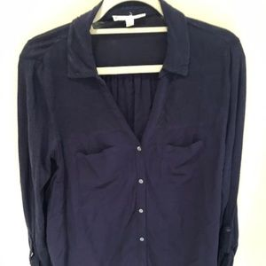 Soft Joie Button Down Top - Navy